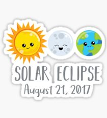 Cute Solar Eclipse - August 21, 2017 Sticker
