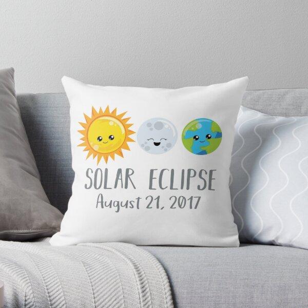 Cute Solar Eclipse - August 21, 2017 Throw Pillow