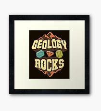 Geology Rocks Framed Print