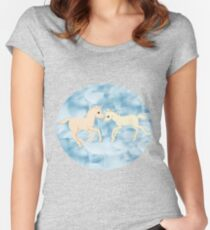 Starry Love Unicorns  Women's Fitted Scoop T-Shirt