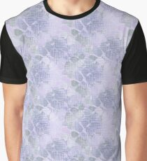 blue abstract flowers  Graphic T-Shirt