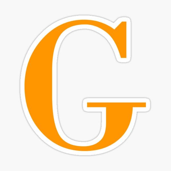 Orange Serif G Sticker