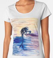 Forbidden- Lesbian Mermaids Kissing  Women's Premium T-Shirt