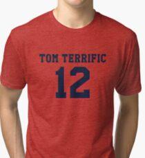 "New England ""Tom Terrific"" Design Tri-blend T-Shirt"
