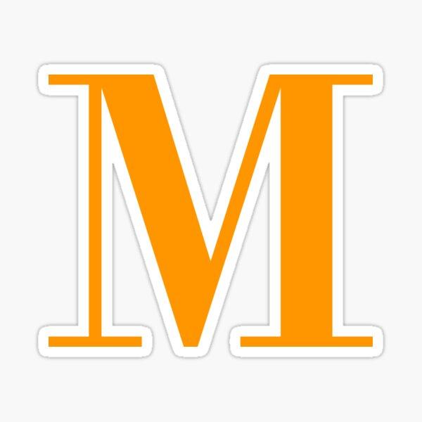 Orange Serif M Sticker