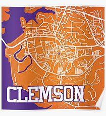 Clemson Map Poster