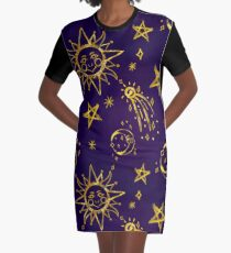 Sun and Moon Astrology  Graphic T-Shirt Dress