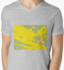 Yellow and green spotty abstract camouflage background. T-Shirt