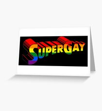 super gay Greeting Card