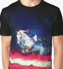 Stars And Stripes Showjumper - Colour Explosion Graphic T-Shirt
