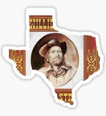 Willie Nelson Red Headed Stranger Sticker