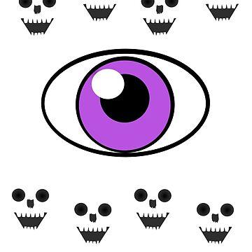 Skull Eyes by LandOfMadDesign