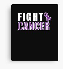 Fight Cancer - Cancer Motivation Canvas Print