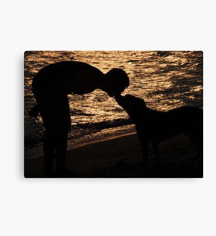 Sunset kiss Canvas Print