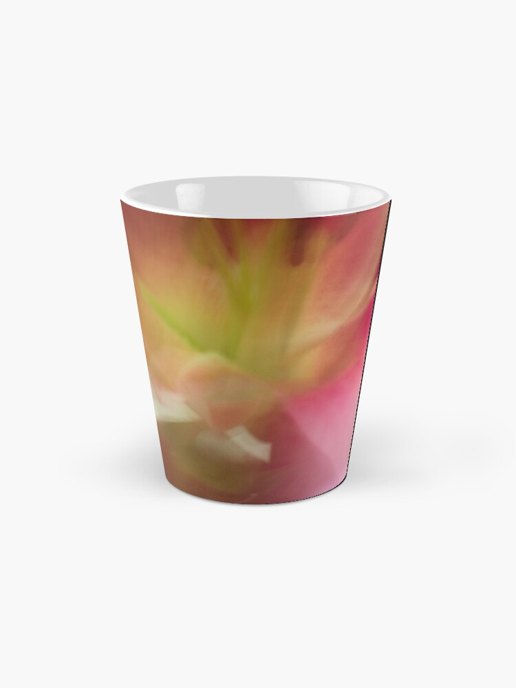 Alternate view of Fleur Blur-Abstract Pink, Yellow, White Lily Mug