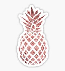 Rose Gold Pineapple  Sticker