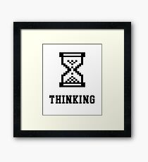 Thinking Retro Premium shirt for Nerds, IT Managers & Geeks Framed Print