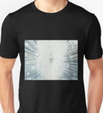 Young white colorful peacock fanned tail. T-Shirt
