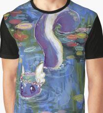 Monet Dragonair-Lilien Grafik T-Shirt