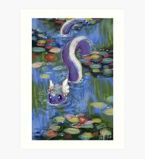 Monet Dragonair Lilies Art Print