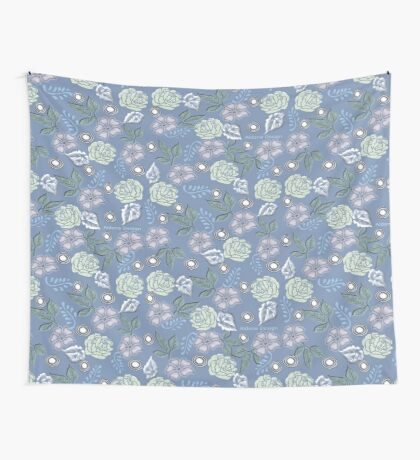 Leaf & Flower Pattern Wall Tapestry