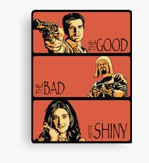 The Good, The Bad, And The Shiny Canvas Print