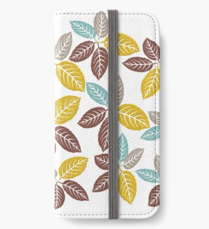 fabric leaf pattern (163 Views) iPhone Wallet