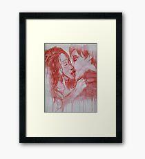 Blood and Kisses Framed Print