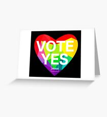 vote yes Greeting Card