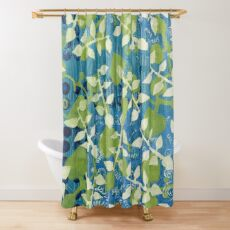 """Greenery"" by Margo Humphries Shower Curtain"