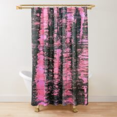 """Pink Highlights"" by Margo Humphries Shower Curtain"