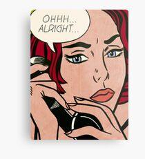 Pop art girl on the phone, Roy Lichtenstein Metal Print