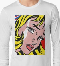 Pop art girl face, Roy Lichtenstein T-Shirt