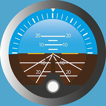 Airplane Pilot Attitude Gyro Cockpit Dial by CreativeTwins