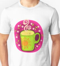 Flower Tea in Pink and Black T-Shirt