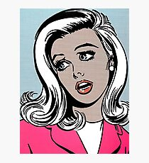Pop art young woman Photographic Print