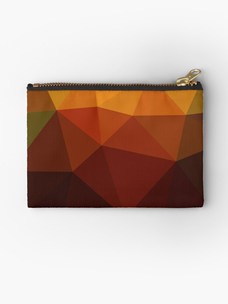 Geometric Orange Brown Pattern by MyArt23