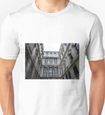 Classical marble building with columns and details on facade T-Shirt
