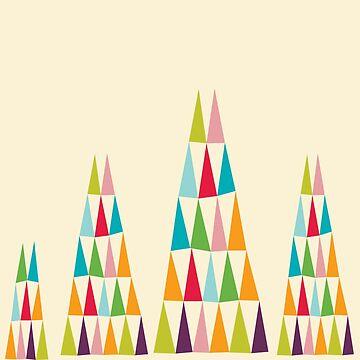 Geometric Colorful Triangle by MyArt23
