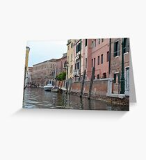 Buildings near canal in Venice, Italy  Greeting Card