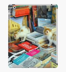 6 June 2017 Two kittens in a library in Venice, Italy iPad Case/Skin