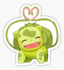 Smiling Bulbasaur Sticker