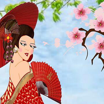 Geisha& Japanese fan(15510  views) by aldona