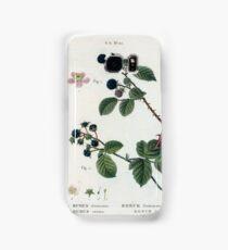Traité des Arbres et Arbustes 0190 Fig Rubus fruticosus Ronce frutescente Fig 2 Eubus cæsius Ronce bleue Blackberry Dewberry Samsung Galaxy Case/Skin