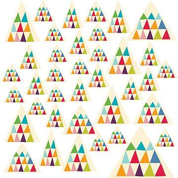 Geometric Multicolor Triangle Pattern by MyArt23