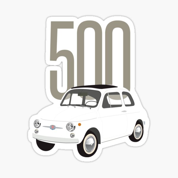 L'incroyable Fiat 500 Sticker