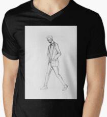 Drawing illustration sketch of man walking  T-Shirt