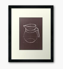 Drawing illustration sketch of water jug  Framed Print