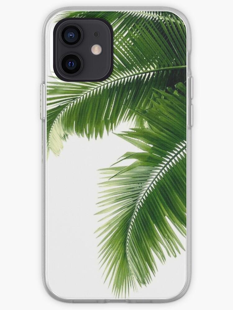 Feuilles de palmier tropical   Coque iPhone