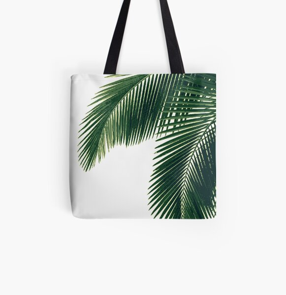 Tropical Palm Leaves All Over Print Tote Bag